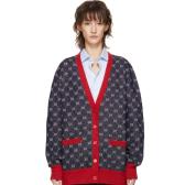 Gucci 海军蓝 & 红色 GG 开衫 港币15,500(约13,674元)
