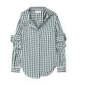 MONSE 不对称方格纯棉府绸衬衫 $517.65(约3,561元)