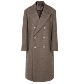 MAISON MARGIELA 大廓形双排扣格纹羊毛外套 £990(约8,580元)