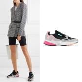 只剩9.5码!ADIDAS ORIGINALS Falcon 网眼面料绒面革皮革运动鞋 £60(约521元)