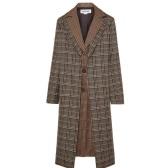 MONSE 分层式格纹羊毛混纺外套 $1,661(约11,225元)