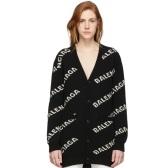 Balenciaga 巴黎世家黑色logo开衫 $1,390(约9,439元)