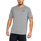 巨石强森最爱!【美亚自营】Under Armour 安德玛 UA Tech 男士健身速干短袖T恤 $14.98(约101元)