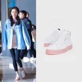 【杨幂同款】【还有6码】Adidas Sleek 粉色鞋底运动鞋 £75(约652元)