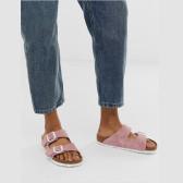 Birkenstock Arizona 粉色麂皮拖鞋 £56(约497元)