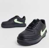 Nike 耐克空军1号 黑色底色绿色 swoosh 运动鞋 £85(约727元)