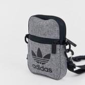 adidas Originals 三葉草灰色小背包 ¥117.12