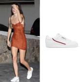 【肯豆同款】ADIDAS ORIGINALS Continental 80 羅緞邊飾紋理皮革運動鞋 ¥572.07
