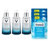 【一套免郵】Vichy 薇姿89號精華露 50ml*3瓶+Balea 芭樂雅 Aqua 補水面膜 3片 €52(約407元)