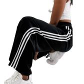 adidas Originals 黑色絲絨三條扛闊腿褲 ¥378.37