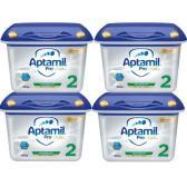 【免郵套裝】Aptamil 愛他美白金版嬰兒配方奶粉 2段 6月+ 800g*4盒 €111.68(約861元)