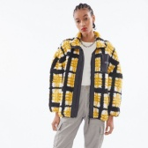 OBEY Hudson Checkered Sherpa 格紋羊羔毛外套 $105(約731元)
