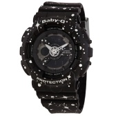【海淘專享】Casio 卡西歐 Baby-G 系列 黑色女士運動腕表 BA-110ST-1ADR $94.99(約647元)