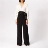 DVF 显腿长气质黑白拼色连体裤 $167.29(约1,139元)
