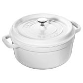 Staub 圓形帶蓋琺瑯鍋鑄鐵鍋 24cm/4.4升 白色 $85(約586元)