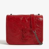 【新年首选】 Saint Laurent Niki 正红色小号皮革链条包 ¥8,900
