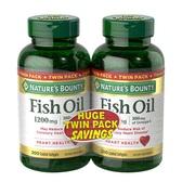 【買1送1】Nature's Bounty 自然之寶 魚油膠囊 1200mg 200粒 2瓶裝 $20(約140元)