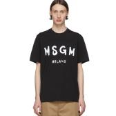MSGM  黑色 Brushed Logo T恤 $70(约495元)