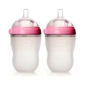 Comotomo 可么多么 粉色婴儿硅胶奶瓶 250ml 2只装 $21.59(约153元)