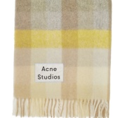 Acne Studios 黄灰格纹围巾 $518(约3,659元)