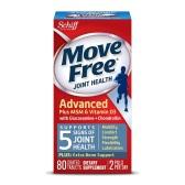 【买1送1+额外8.5折】Schiff Move Free 维骨力 氨基葡萄糖软骨素+MSM&维生素 D3 蓝盒 80粒 $12.75(约90元)