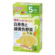 WAKODO 和光堂 鳕白身鱼绿黄色蔬菜泥 8包*6盒