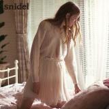 snidel V领针织衫雪纺吊带连衣裙 两件套