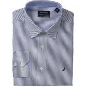 Nautica 诺帝卡 Poplin Stripe 男士全棉条纹衬衫
