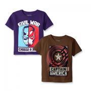 MARVEL 漫威 Captain America 儿童T恤 2件装
