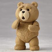 海洋堂 泰迪熊 9CM ABS&PVC材質 涂裝完成版 模型手辦(可動)
