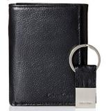 Calvin Klein Pebble Leather Slim Trifold 男士三折钱包+钥匙环