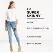 Levi's 李维斯 710 Super Skinny 女士牛仔裤