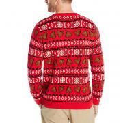 Alex Stevens Happy Holidays Horse Ugly Christmas 男士针织衫