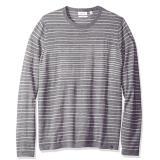 Calvin Klein Merino Stripe Crew Neck 男士羊毛混纺针织衫