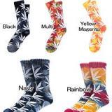 HUF SK44001 FAC31046 大麻叶图案长袜(HUF 麻叶袜)