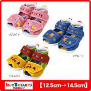 MIKI HOUSE HOT BISCUITS 儿童夏季刺绣款学步凉鞋*3双