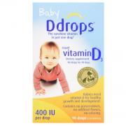 Ddrops Baby Vitamin D3 婴儿维生素D3滴剂(400 IU,90滴)