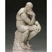 figma 桌上美術館系列 思想者 石膏Ver. ABS &PVC 涂裝完成可動手辦