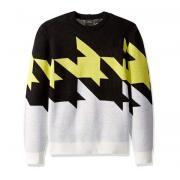 Armani Exchange 男士千鳥格針織衫