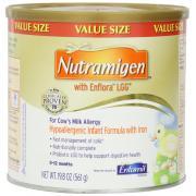 牛乳过敏的0到12月的婴儿设计(Nutramigen with Enflora LGG)