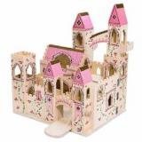 melissa doug豪华木质折叠公主城堡