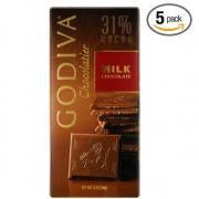 Godiva牛奶巧克力 五条装