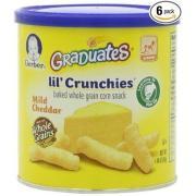 Gerber 嘉寶奶酪玉米澆汁全谷物香脆泡芙條6罐裝
