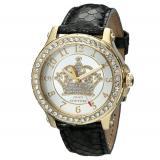Juicy Couture 橘滋1901203  镶水晶黄金边框表盘真皮表带女士手表