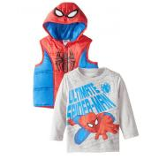 MARVEL 漫威 Spiderman Vest 男童装2件套