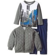 Calvin Klein Jacket with Short Sleeve Tee and Pants 男童三件套