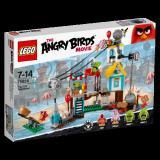 LEGO 乐高 Angry Birds 愤怒的小鸟系列 75824 捣毁猪猪城堡