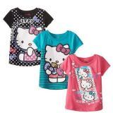 Hello Kitty 凯蒂猫 Value 女童短袖3件套