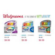 Walgreens:Centrum 善存精選保健品僅售$6.99或$9.99