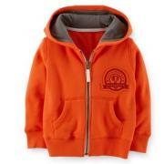 男童橙色卫衣